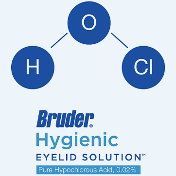 The science behind bruder's hygienic eyelid solution containing Hypochlorous acid