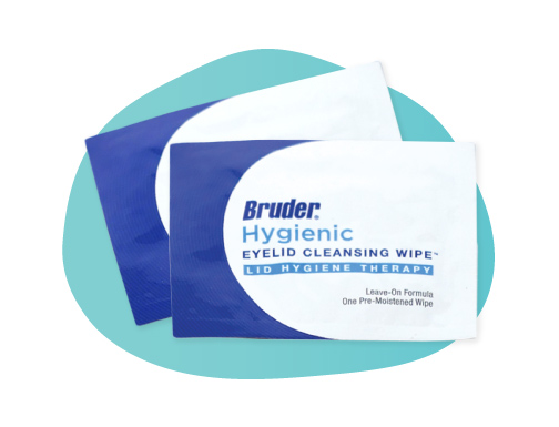 Bruder Hygienic Eyelid Wipes help clean the eye surface to remove bacterial prior to surgery
