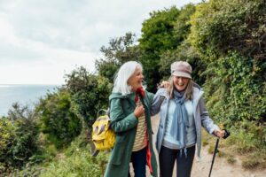 How to Make Sure Your Travel Plans Don't Include a Trip to the Eye Doctor: Women Hiking on Vacation